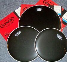 Evans BLACK Hydraulic Drum Head Pack-12-13-16