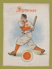 1910 LG Murad tobacco silk S21 SYRACUSE UNIVERSITY  Baseball Batter  TOUGH