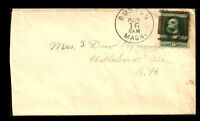 Fancy Cancel Cover ~ Boston Negative 8 ~ Cole #BOS-33