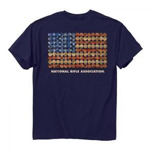 NRA Shotgun Shell American Flag T-Shirt, Buck Wear Men's