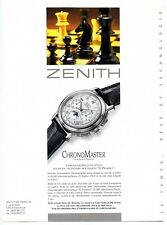 1995 : Publicité pour Montre Zenith Chronomaster, Suisse (advertising)