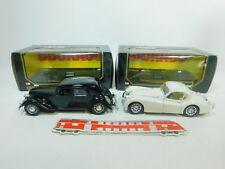 BP463-2 #2x Burago 1:24 Camión: 1501 Citroen 15Cv Ta + 1508 Jaguar Xk 120 S.G