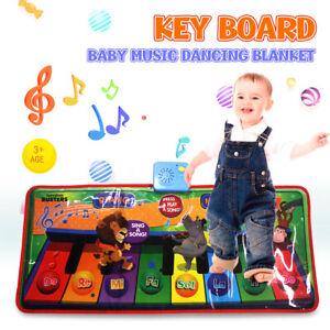 Kid Music Mat Touch Piano Play Keyboard Musical Singing Carpet Mat Baby Toy Gift