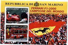 SAN MARINO 2001 foglietto Ferrari campione del mondo nuovo **