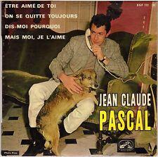 """JEAN CLAUDE PASCAL """"ETRE AIME DE TOI"""" 60'S EP LA VOIX DE SON MAITRE 722"""