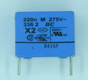 Entstörkondensator Kondensator X2-0,22 µF .22 UF 250 V ~ Netzfilter