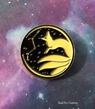 Vulpecula fox pin Fox Kitsune comes with exclusive drawing first run