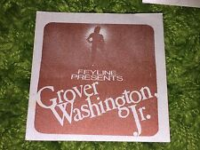 Grover Washington Jr Tour Satin Backstage Pass Authentic Vintage Jazz