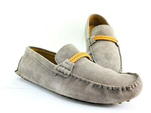 Aldo Suede Loafers Men's 10 Dress Shoe Gray Leather Driving Moccasin