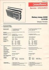 NORDMENDE - Galaxy mesa 4400 3.110 B - Service Information Schaltbild - B3131