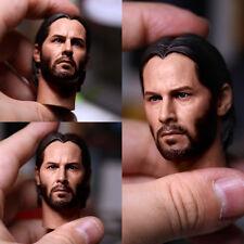 Eleven 1/6 Scale Keanu Reeves John Wick 2.0 Head Sculpt For Hot Toys Figure Body