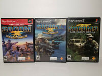 SOCOM U.S. Navy SEALs 1 2 II 3 Bundle Lot! Complete! (PlayStation 2, ps2, 2005)