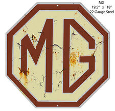 MG Reproduction Garage Shop Metal Sign 18x19.5