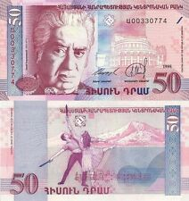 50 ARMENIAN DRAM BANKNOTE P41 1998 ARMENIA UNCIRCULATED