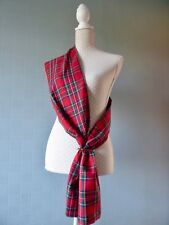Red tartan sash, Royal Stewart Tartan scarf, red plaid stole, Burns night sash