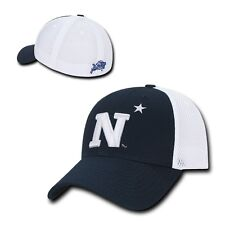 NCAA United States Naval Academy Structured Mesh Flex Baseball Caps Hats