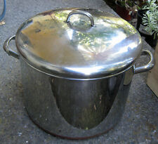Vintage Revere Ware Copper Clad Stainless Steel 16 Qt Stock Pot Clinton Ill USA