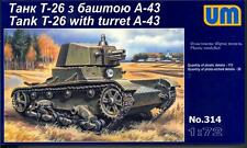 UM-MT Models 1/72 Soviet T-26 LIGHT TANK with A-43 TURRET