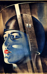 Metropolis Film Poster - Klebrand, 1926, Fade Resistant HD Art Print or Canvas