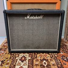 "Vintage 1976 1970s Marshall 2045 2x12 Guitar Cabinet w/ Eminence 12"" Speakers"