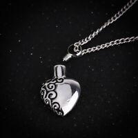 Collier urne coeur pour cendres urne bijoux pendentif commémoratif souvenir GMFU