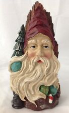 """Windsor Collection Santa Claus Resin Wood Spirit for Shelf or Wall 11"""" Tall"""