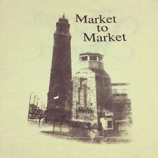 Vintage West Side Market T-Shirt Soft Thin Cleveland 2-sided Produce Meat Tower