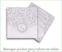 Sample *Baroque* Pocketfold A6 Square INVITE WEDDING INVITATION STATIONERY NEW!