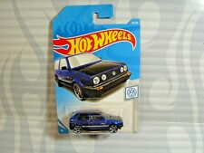 2019 HOT WHEELS ''volkswagen'' #68 = VOLKSWAGEN GOLF MK2  = BLUE , int
