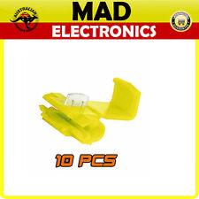 10 x 6mm Yellow Scotch Lock Quick Splice Wire Cable Connector Terminal Crimp