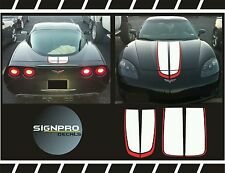 Corvette Chevrolet C6 Racing Stripes Rally Stripes Decal Kit 1997-04 Many Colors