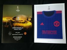 More details for 2017 ajax v manchester united europa league final official programme & poster