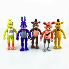 5Pcs Five Nights At Freddy's FNAF Doll Action Figures Toys Freddy Fazbear Bear