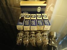 Tesa 12At7 Ecc81 Nos X 5 Vintage New Old Stock In Box In Sleeve Valves Tubes