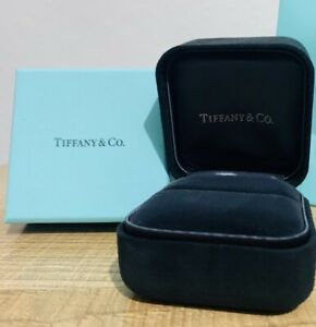 Tiffany & CO Suede Ring Box And Blue Box