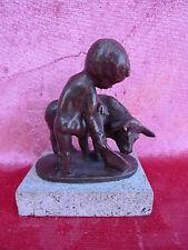 schöne,alte  Bronzefigur__Kleiner Stierkämpfer ___!