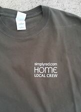 2003 SIMPLY RED Home Tour LOCAL CREW stagehand T SHIRT L
