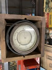 Vintage WWII Buships 1942 Naval Compass in Wooden Box