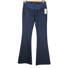NEW DL1961 Womens Joy Maternity Flare Mariner Blue Jeans Size 26
