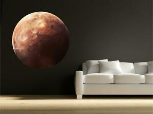 Mercury Planet Space Realistic Science  Wall Art Sticker Decal Transfer Mural