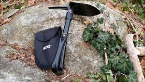 L@@K SOG Entrenching Folding Carbon SHOVEL - PREPPER SURVIVAL - 693g OFFICIAL !!