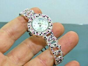 Turkish Handmade Jewelry 925 Sterling Silver Amethyst Stone Women Watches