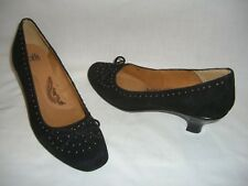 SOFFT Black Suede Leather Pumps Shoes w/ Stud Accent - 8M - NEW