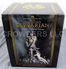 "Moore Creations FRANK FRAZETTA'S BARBARIAN Statue 14"" Porcelain #345 of 6500 NIB"