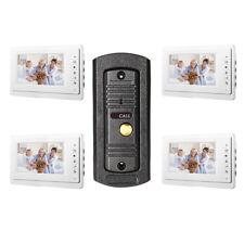 Wired Video Intercom Door Phone Audio Visual Doorbell Entry System For Villa 1V4