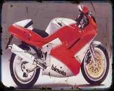 Bimota Yb10 90 A4 Metal Sign Motorbike Vintage Aged