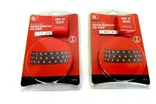 """2 RadioShack 39.3"""" (1m) Red Color LED Strips 2760331 Water Resistant 60 LEDs per"""