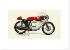 Realistic Artwork Honda 1961 Honda RC162 by Seevert Works