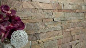 Naturstein Verblender, Wandverkleidung, Echtstein, Schiefer Copper Muster