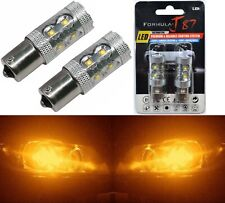 LED Light 50W 1156 Amber Orange Two Bulbs Back Up Reverse Replace Show Use Lamp